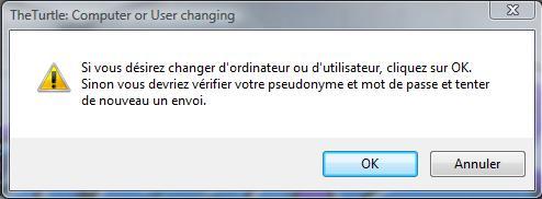 Erreure changement d\'utilisateur